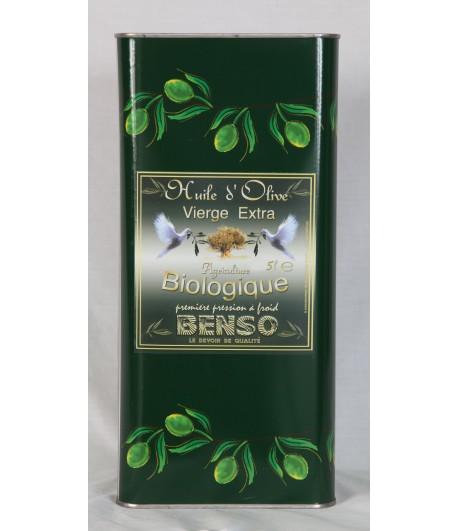 Huile d'olive biologique 5 lit