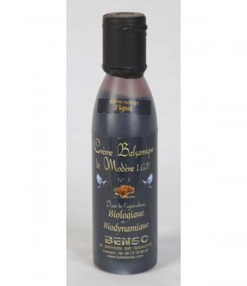 Crème balsamique biologique et bio-dynamique de Modène aromatisé aux figues 150 ml