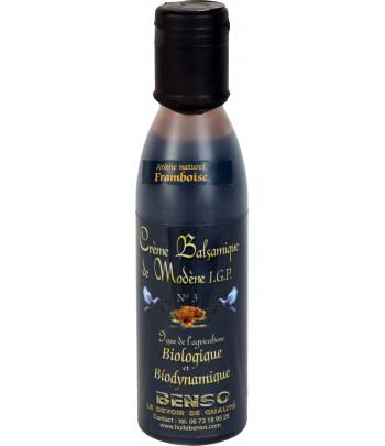 Crème balsamique biologique et biodynamique, arômatisée à la framboise 150 ml