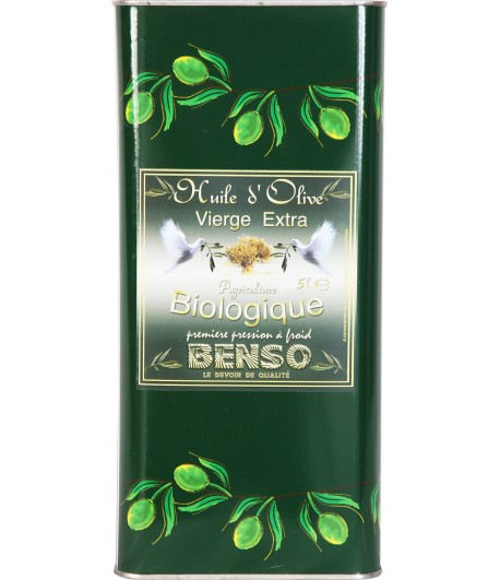 Huile d'olive biologique Benso - 5 litres