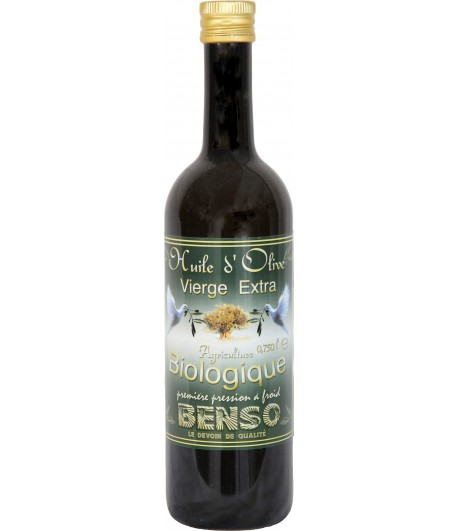 Benso Organic Olive Oil - 75 cl